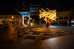 Chinese Night Gardens (paulphotographe) Tags: dunedin nz evening light night colour