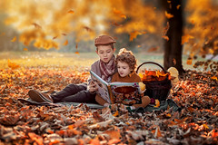 Nevena Uzurov  - Happy Autumn (Nevena Uzurov) Tags: autumn nature scenery children leaves indiansummer fall goldenleaves serbia fallingleaves nevenauzurov romantic