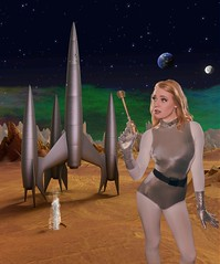 First Woman on Mars A (jim.choate59) Tags: jchoate on1pics retro cosplay spacegirl spacebabe retrofuture raypunk pinup space exoplanet retroscifi scifi raygun greenscreen outerspace 1950s firstspaceshiponvenus caz747 deviantart on1photoraw