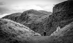 Running up that hill . . (wayman2011) Tags: colinhart fujifilm35mmf2 fujifilmxt1 lightroom5 wayman2011 bwlandscapes mono rural people pennines dales teesdale holwick countydurham uk