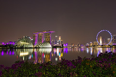 Singapore at Night (rohantstevens) Tags: singapore marinabay marinabaysands raffleshotel