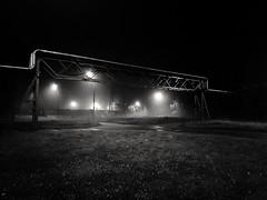 Night lights (wojciechpolewski) Tags: nightlights night nightphotography nightstreet lights streetlamp industrial blackandwhite blanconegro blachowniaśląska blackwhite schwarzweis photos photo poland wpolewski