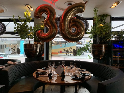 Folieballon Cijfer 36 Oysterclub Rotterdam