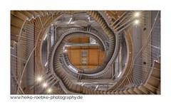 labyrinth! (Heiko Röbke) Tags: treppenhaus de architektur building universum city symetric gebäude sigma1224mmf40dghsmart uww thesymetryabove symetrie canon5dmkiv architecture bremen staircase 2019 lightroom treppe