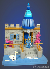 UniCastle (jaapxaap) Tags: lego moc by jaapxaap unicorn castle fantasy bright colours blue pink gold princess creation entry contest minifigure