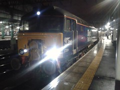 Direct Rail Services Class 57 57301 at Glasgow Central Platform 2 (08-12-15) (Rikki Cameron) Tags: trains railtours charters northernbelle belmond directrailservices class57 exclass47 bodysnatcher brushtraction 573 57301 goliath glasgowcentral emptycoachingstock