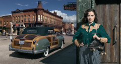 Loretta Stanton. (blaisearnold.net) Tags: chrysler town country 50s 40s woody roller derby western vintage sunny sport usa us america united states townncountry