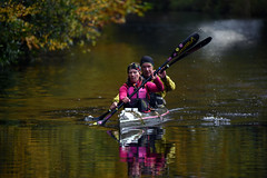 Basingstoke Canal Ash - Ash Vale 3 November 2019 034 (paul_appleyard) Tags: basingstoke canal ash vale surrey november 2019 canoe autumn colours fall colors reflections