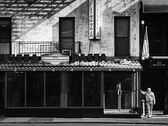 Pizza_Pasta (Kenneth Laurence Neal) Tags: newyorkcity urban street streetphotography people noir monochrome monotone blackdiamond blackandwhite abandoned buildings pub restaurant nikon nikond7100
