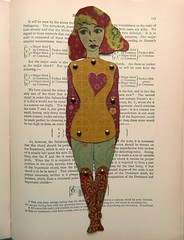 Paper doll (JuliaPeculiart) Tags: paperdoll paper doll puppet handmade ooak jointed moveable articulated art bookmark