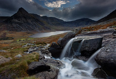 Afon Lloer (andyk11) Tags: afon lloer waterfall hill lake clouds landscape snowdonia north wales mountain water fall andy knowles