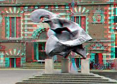 Zonnevechter Grote Markt Haarlem 3D