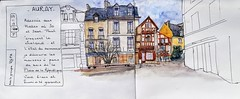 Auray (martinepittet) Tags: croquis stylo carbon pen aquarelle carnet seawhite journal bretagne novembre 2019 repa auray