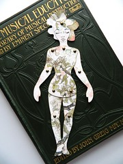 Flower Paper Doll (JuliaPeculiart) Tags: paperdoll paper doll etsy handmade articulated jointed artdoll flower nature