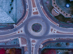 20191103-DJI_0978.jpg (GrandView Virtual, LLC - Bill Pohlmann) Tags: fallcolors cottagegrovemn roundabout 95thstreet sunrise hadleyavenue minnesota snow