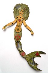 Mermaid Paper Art Doll (JuliaPeculiart) Tags: mermaid siren paperdoll paper doll jointed articulated moveable sea seaside ocean handmade tattoo