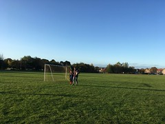 Photo of Warm up on a freezing pitch