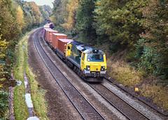 70007. Wadleys Road bridge (ricsrailpics) Tags: uk westmidlands solihull class70 diesellocomotive freightliner 2019
