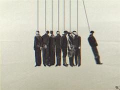 ncradle (woodcum) Tags: gif gifanimation animation animated collage hangman hanged newtons cradle balls surrealism surreal minimalistic minimalism retro vintage