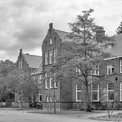 Delft university area building (PIVAMA photography) Tags: delft building apartments student students black white monochrome facade classic