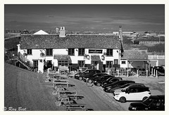 Thames Holehaven creek (Raymond Best) Tags: pub riverside thames blackwhite blackandwhite cars outside nikon d500 bar historic essex england