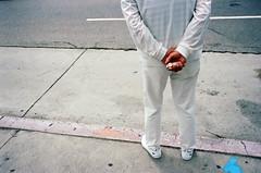 waiting (susan catherine) Tags: white losangeles koreatown film leica m6 portra400