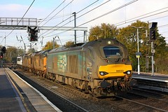 Convoy at Ipswich (Chris Baines) Tags: 37038 37401andga90011ipswichworkingnorwichcrownpionttocrewe drs 68033 working norwich crown point crewe