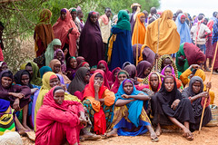 Women wait to receive seeds (FAOemergencies) Tags: somalia fao africa farmers drought agriculture hornofafrica ruralcommunities seeddistribution inputdistribution emergencies europeanunion