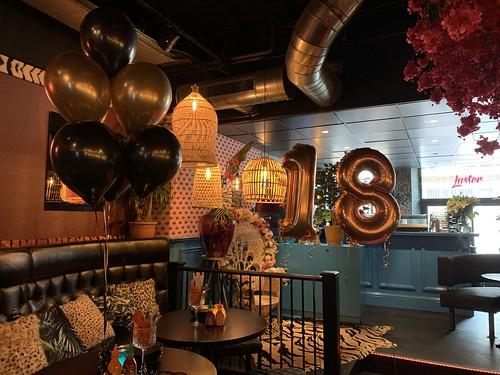 Tafeldecoratie 6ballonnen Luster Rotterdam