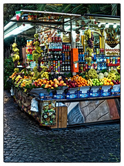 The grocery (Neil Stevens) Tags: biscotti icecream omdem1ii colours gelato street water food italy italia biscuits beverage orange red stall fruit drink omdem1markii welshotdoesrome2019 market grocery roma streetphotography rome colourful green olympusuk grocer welshot adventuresinrome