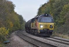 70814 Hare Park Junction (davehell) Tags: class70 70814 wakefieldrailway walton crofton locomotive locohauled freighttrain yorkshirerail colasrail