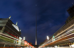 The Spire Light Trail (karsten1605) Tags: the spire dublin eire ireland long exposure canon eos 5d mark ii wide angle blue hour blaue stunde 1740