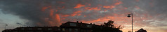 The fire-edged clouds boil over Odense in a wild sunset, Denmark (albatz) Tags: sky clouds dark sunset pink fireedged boiloverodense wild denmark