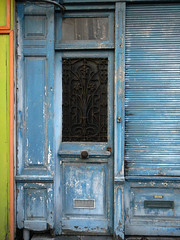 An old weathered blue door in Dieppe, France (albatz) Tags: blue old weathered door dieppe france