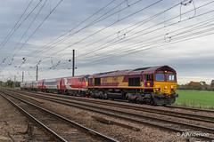 66154 20191106 Biggleswade (steam60163) Tags: biggleswade mk4drag mk4 class66 66154 ews lner