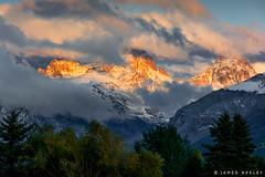 Peeking Through (James Neeley) Tags: tetons grandtetons westside idaho tetonvalley landscape mountains jamesneeley