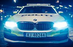 Cop brother (John Christian Fjellestad) Tags: politi engine parking bmw help vehicle norway police urban car city emergency bluelight cop 911 citylights lights