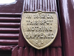 In 1832 on this spot nothing happened (Matt From London) Tags: 1832 shitsigns spitalfields crest shield plaque