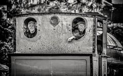 Look Back in Time (Andy J Newman) Tags: bristol england unitedkingdom man men train steam engine engineer harbour harbourside bandw bw nikon d500