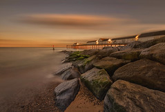 Southwold Pier (brian_stoddart) Tags: piers landscape seascape sea rocks sky sunset sand water colours light structure suffolk