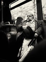 Man dozing on bus (Allan Rostron) Tags: