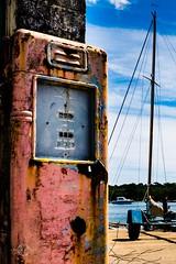 pink pump (W A G N E R • P I C T U R E S) Tags: 2015 isleofwight marina boats coast holiday petrolpump seaside isle wight pump fuel diesel pink gallons marine harbour jetty refuel