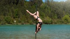 (dimitryroulland) Tags: nikon d750 85mm 18 dimitryroulland performer art artist dance dancer pole poledance poledancer nature natural light dordogne france blue water
