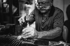 silversmith in Lefkara (T. Kaiser) Tags: sonyilce7rm3 fe35mmf18 ƒ18 350mm zypern silberschmied silversmith schwarzweis blackwhite blackandwhite schwarzundweis cyprus lefkara