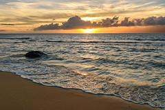 Kaanapali (D-Adams) Tags: maui hawaii beach sunset sky clouds sea ocean surf sand sandy nikon colors dusk shimmering kaanapali view landscape