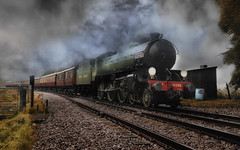 Mayflower (brian_stoddart) Tags: train steam railway sky weather colours uk vintage old