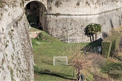 Bergamo, Football pitch outside the city-walls. (parnas) Tags: bergamo lombardije italia citywalls