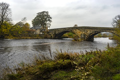 Bolton Bridge on a wet day. (johnandco) Tags: bridge bolton river wharfe abbey skipton autumn wet rain