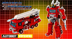 """Autobot Inferno (""""Orion Pax"""") Tags: lego transformers inferno firetruck autobots moc orionpax"""