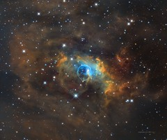 Bubble Nebula (NGC7635) NB in SHO palette (Carballada) Tags: astrophotography redditastro astronomy deep space astro celestron zwo as1600mmc skywatcher ts sky qhy qhy5iii174 pixinsight galaxy galaxies deepspace telekopeservice narrowband hstpalette mach1 astrophysics astrophoto mesu mesu200 mesumount eq6r eq6 ts107 astrodon rc10 asi290 asi174 asi1600 asi183 astrometrydotnet:id=nova3724898 astrometrydotnet:status=solved